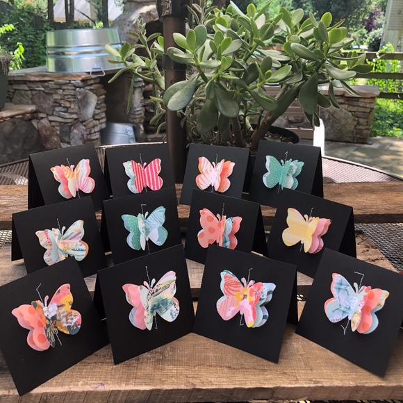 Itty Bitty Bobbin Other - Mini Blank Note Cards-Paradise Crush Color Scheme